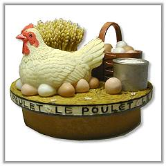 French Hen Jar Candle Topper